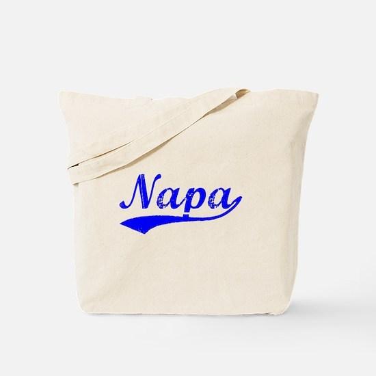 Vintage Napa (Blue) Tote Bag