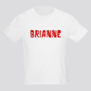 Brianne Faded (Red) Kids Light T-Shirt