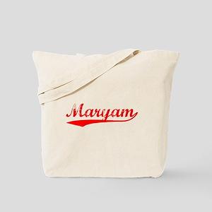 Vintage Maryam (Red) Tote Bag