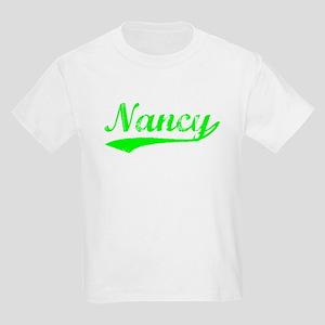 Vintage Nancy (Green) Kids Light T-Shirt