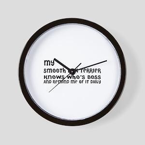 My Smooth Fox Terrier Dog Designs Wall Clock