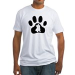 Westie Paw Fitted T-Shirt