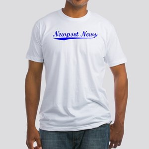 Vintage Newport News (Blue) Fitted T-Shirt