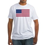 US Flag Fitted T-Shirt
