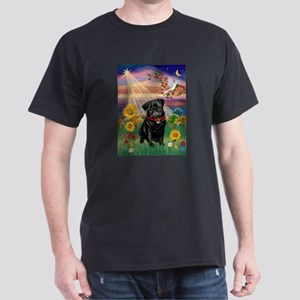 Autumn Angel / Pug (blk) Dark T-Shirt