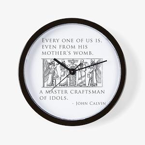 John Calvin Idol Craftsman from birth Wall Clock