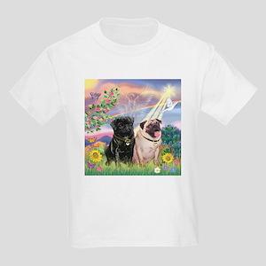 Cloud Angel & 2 Pugs Kids Light T-Shirt