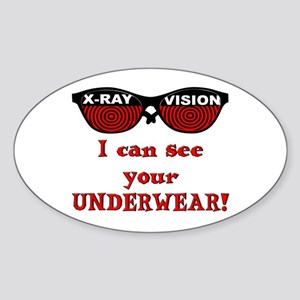 Retro X-Ray Spex Oval Sticker