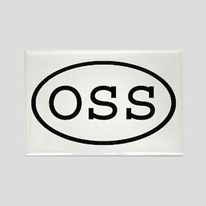 OSS Oval Rectangle Magnet