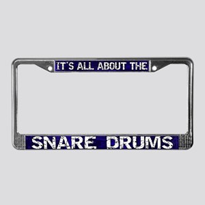 All About Snare Drum License Plate Frame Blue