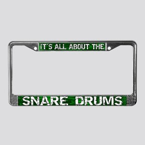 All About Snare Drum License Plate Frame Green