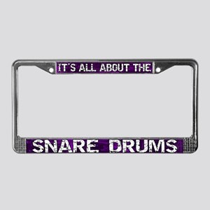 All About Snare Drum License Plate Frame Purple