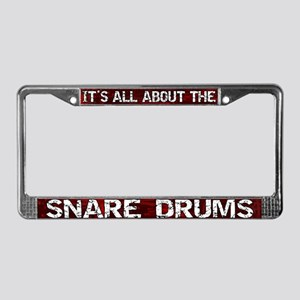 All About Snare Drum License Plate Frame Red