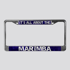 All About Marimba License Plate Frame Blue