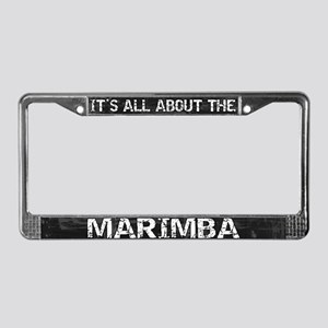 All About Marimba License Plate Frame Grey