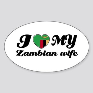 I love my Zambian Wife Oval Sticker