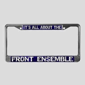 All About Front Ensemble License Plate Frame Blue