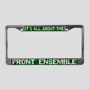 All About Front Ensemble License Plate Frame Green