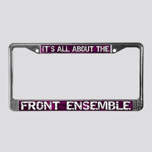 All About Front Ensemble License Plate Frame Pink