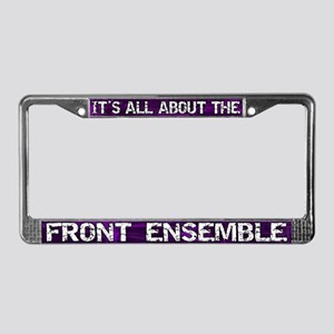 All About Front Ensemble License Plate Frame Purp