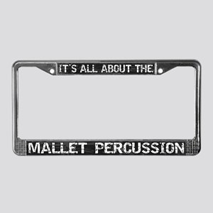 All Abt Mallet Percussion License Plate Frame Grey