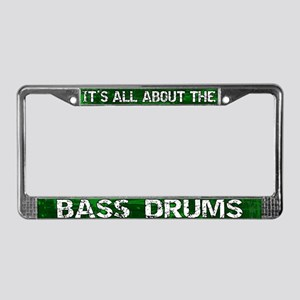 All About Bass Drum License Plate Frame Green