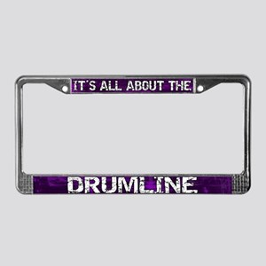 All About Drumline License Plate Frame Purple