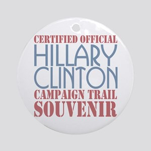 Official Hillary Campaign Souvenir Ornament (Round