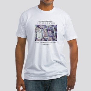 How John Wesley handled money Fitted T-Shirt