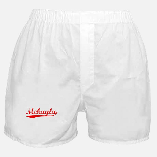 Vintage Mckayla (Red) Boxer Shorts