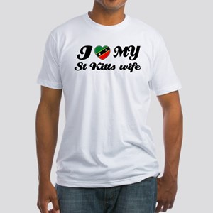 I love my St Kitts Wife Fitted T-Shirt