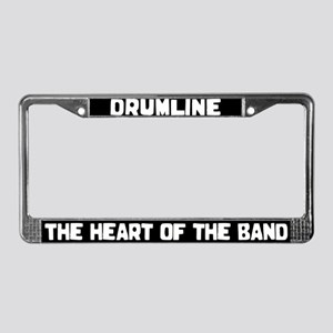 Drumline Heart License Plate Frame