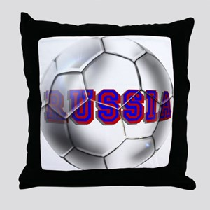 Russian football Throw Pillow