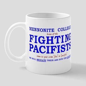 joke mug Mennonite College fighting pacifists
