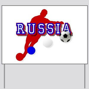 Russian Soccer Player Yard Sign