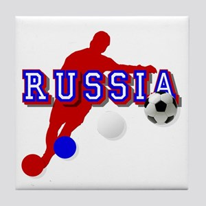 Russian Soccer Player Tile Coaster