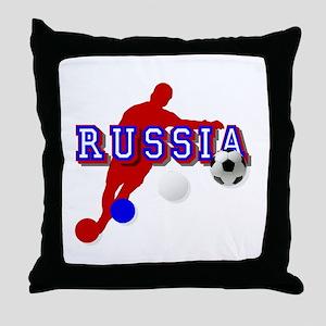Russian Soccer Player Throw Pillow