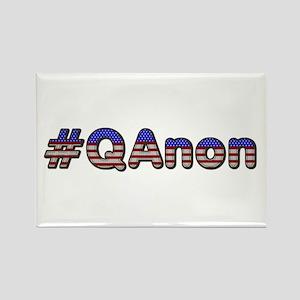 #QAnon Rectangle Magnet