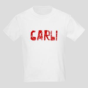 Carli Faded (Red) Kids Light T-Shirt