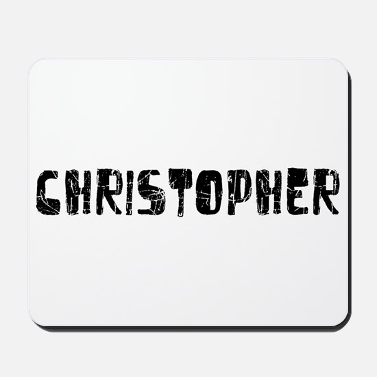 Christopher Faded (Black) Mousepad