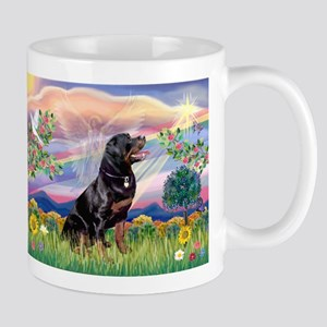 Cloud Angel with Rottweiler Mug