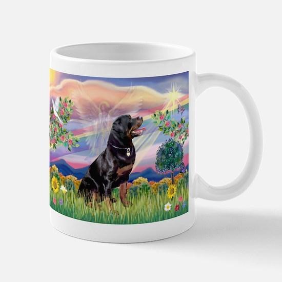 Cloud Angel with Rottweiler Mug