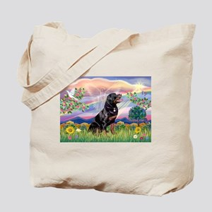 Cloud Angel with Rottweiler Tote Bag