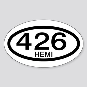 Mopar Vintage Muscle Car 426 Hemi Oval Sticker