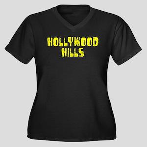 Hollywood Hi.. Faded (Gold) Women's Plus Size V-Ne