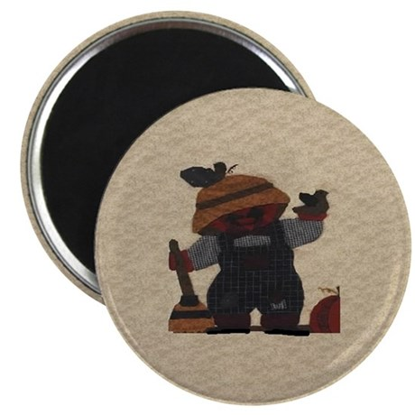 """Scarecrow Quilt 2.25"""" Magnet (100 pack)"""