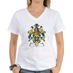 Kurz Family Crest Women's V-Neck T-Shirt