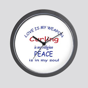 Curling is my Religion Wall Clock