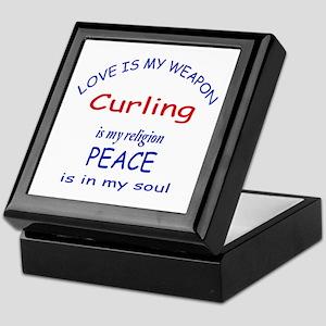 Curling is my Religion Keepsake Box