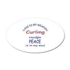 Curling is my Religion Wall Decal